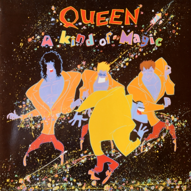 A Kind Of Magic - EMI 2405311 FRANCE (1986) ~ Red vinyl. Front