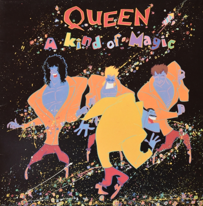 A Kind Of Magic - EMI 3509 NEW ZEALAND (1986) ~ Orange vinyl - Front