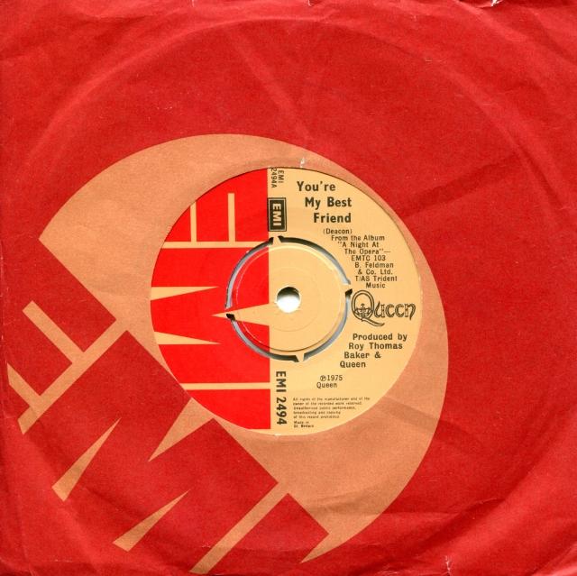 You're My Best Friend / '39 - EMI 2494 UK (1975) ~ No PS