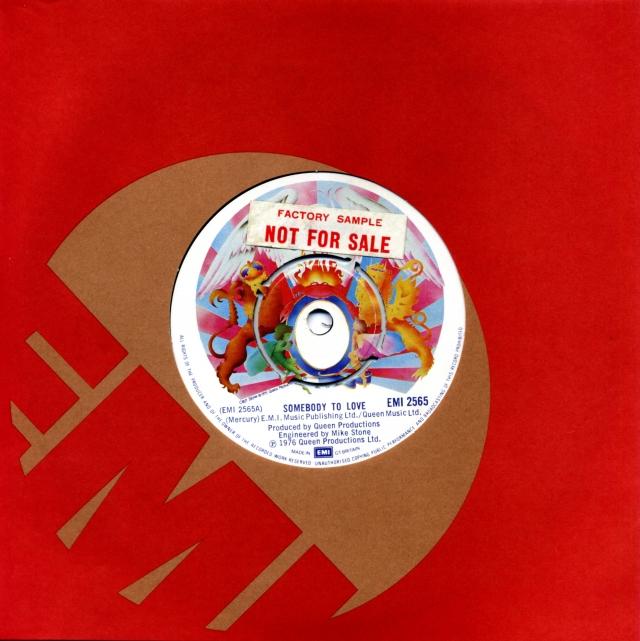 Somebody To Love / White Man - EMI 2565 UK (1976) ~ No PS. Factory Sample