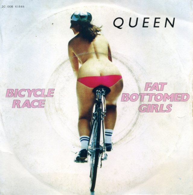 Bicycle Race / Fat Bottomed Girls - EMI 2C 0008-61846 FRANCE (1978) ~ Uncensored sleeve - Front