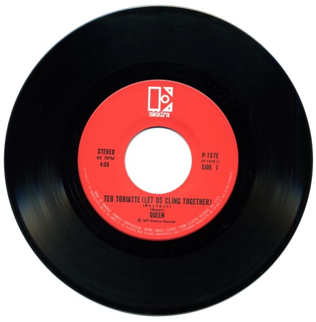Teo Toriatte / Good Old Fashioned Lover Boy - ELEKTRA P-157 E JAPAN (1977) ~ Red label. Side A