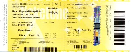 25th February 2016 (Teatro degli Arcimboldi, Milan, Italy)