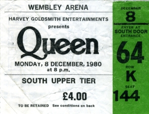 8th December 1980 (Wembely Arena, London, UK)