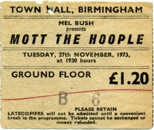 27th November, 1973 (Town Hall, Birmingham, UK)