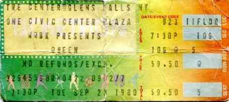 Ticket 23 September 1980