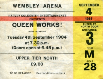 Ticket 4 September 1984