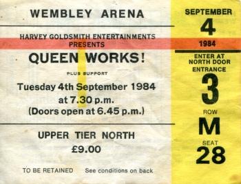 Ticket 4 September 1984