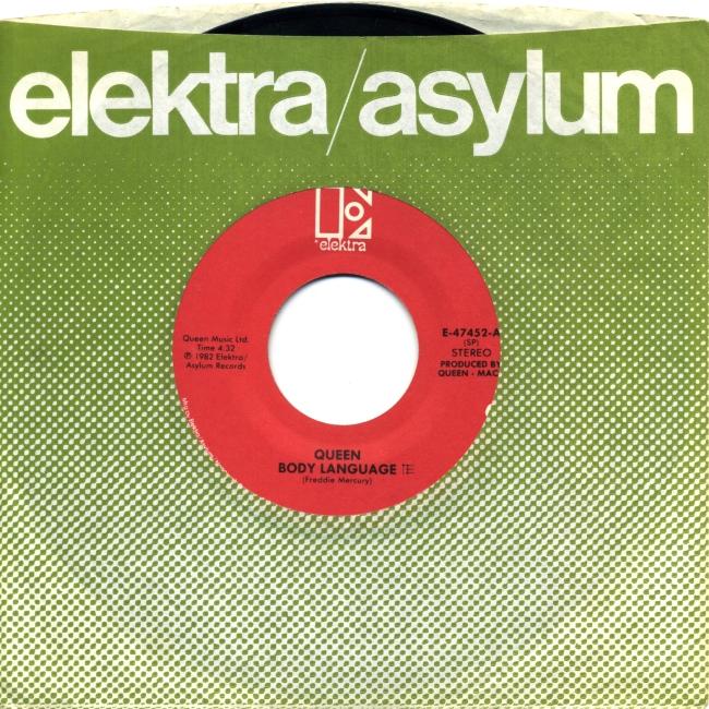 Body Language / Life Is Real - ELEKTRA E-47452 USA (1982) ~ No PS