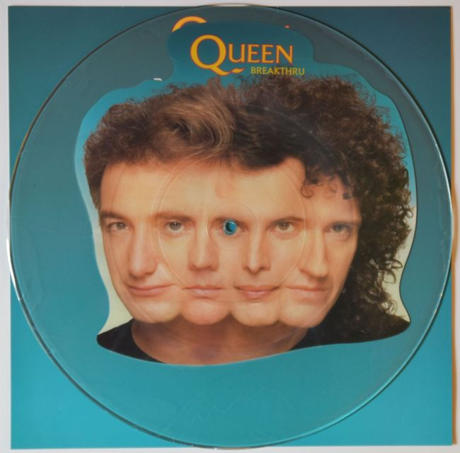 Breakthru / Stealin' - PARLOPHONE QUEENPD11 UK (1989) ~ Uncut Picture disc