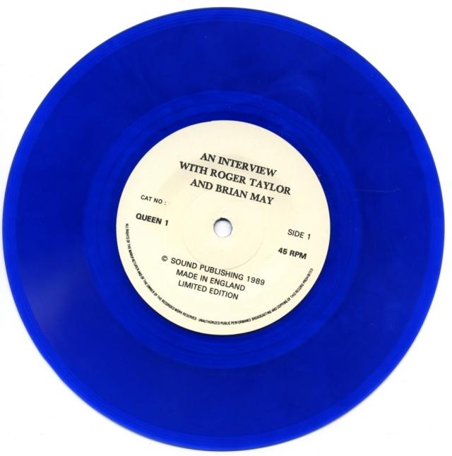 Interview - SOUND PUBLISHING QUEEN1 UK (1989) ~ Bootleg. Blue Vinyl - Side A