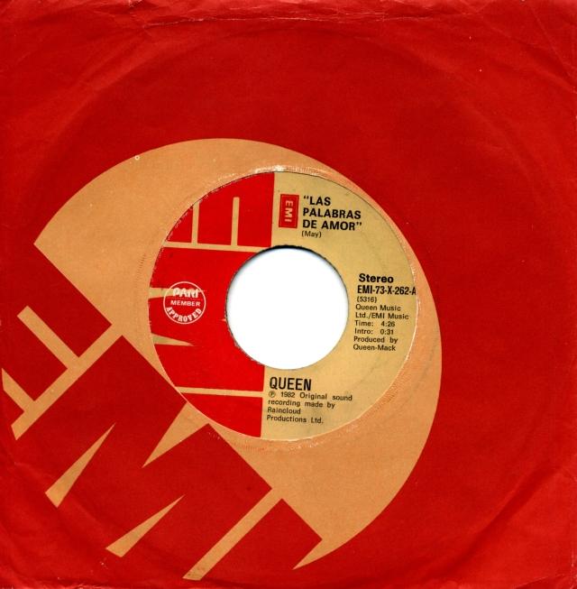 Las Palabras De Amor / Cool Cat - EMI 73-X-262 PHILIPPINES (1982) ~ No PS