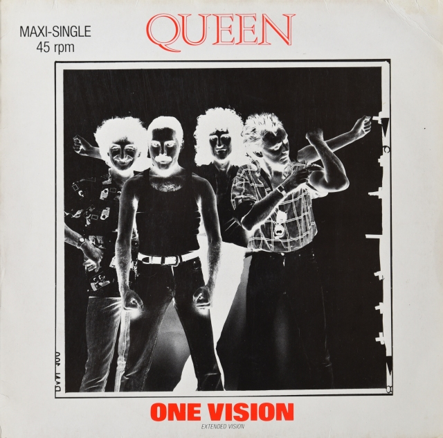 One Vision (extended) / Blurred Vision - EMI 060-20 0911 6 GERMANY (1986)