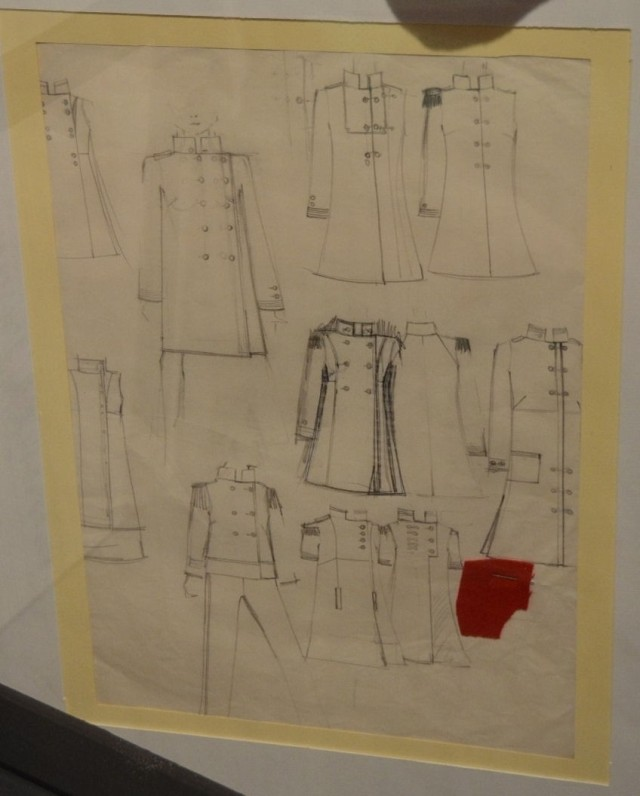 Fashion studies and sketches by Freddie Mercury (signed with his real name Farrokh Bulsara)