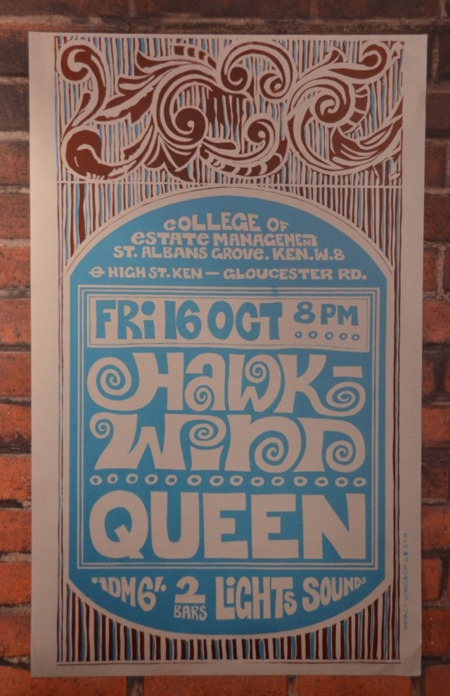 Queen early tour poster as supporting group