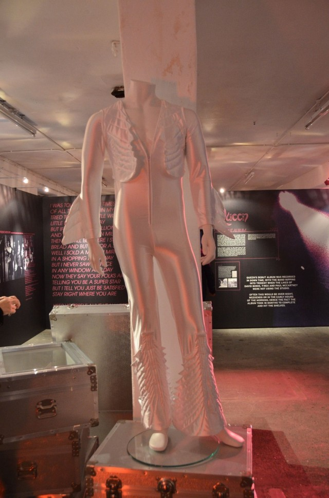 "The ""white angel"" dress used in tour, early 70's"