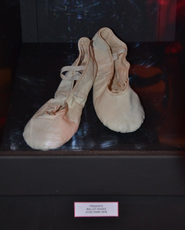 Freddie Mercury's ballet shoes used at the concert in Hyde Park, 1976