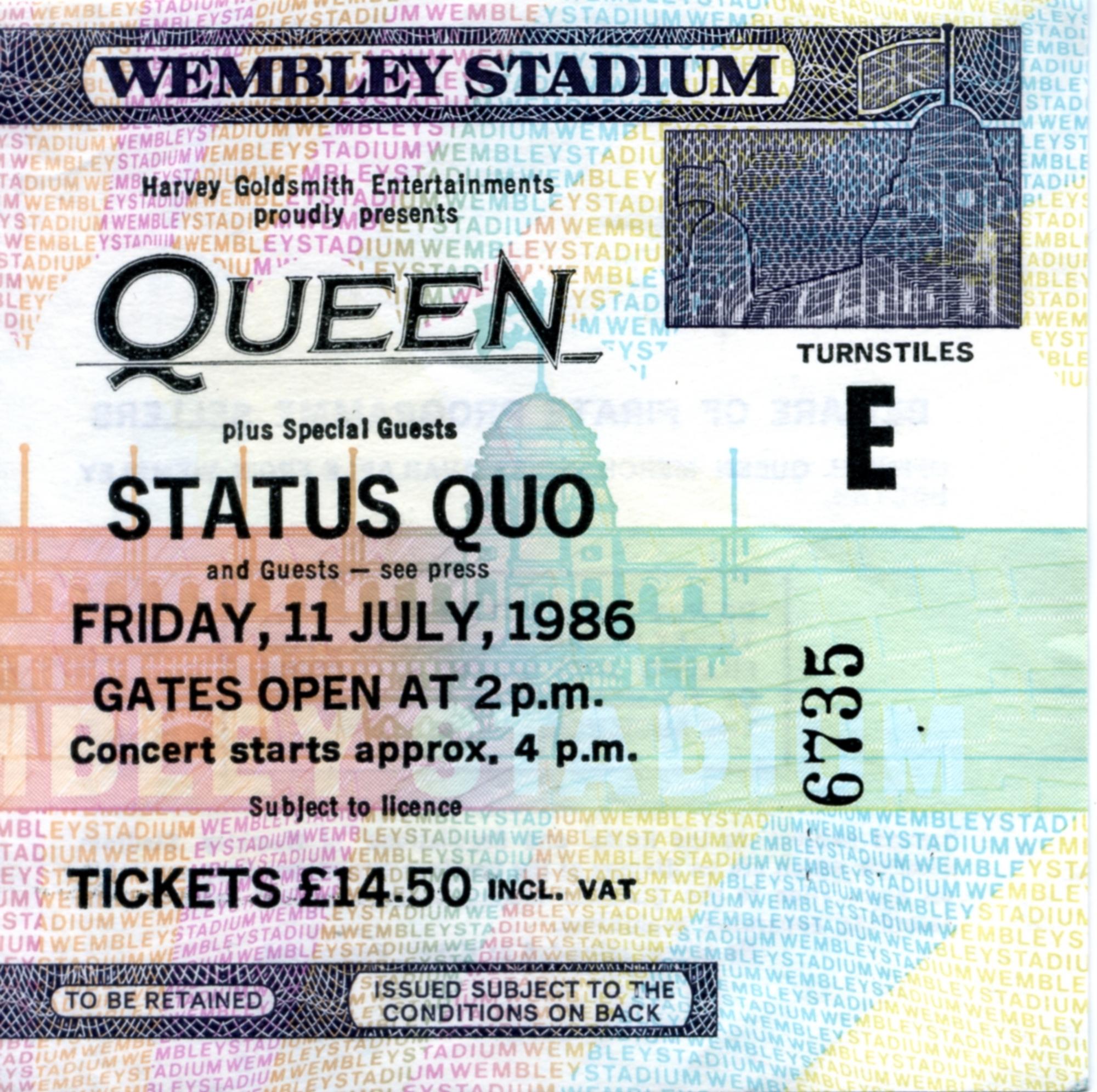 Fri 11th July – UK, London, Wembley Stadium