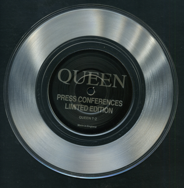 Press Conferences / - - - QUEEN 7-2 UK (-) ~ Bootleg. Clear Vinyl - No PS