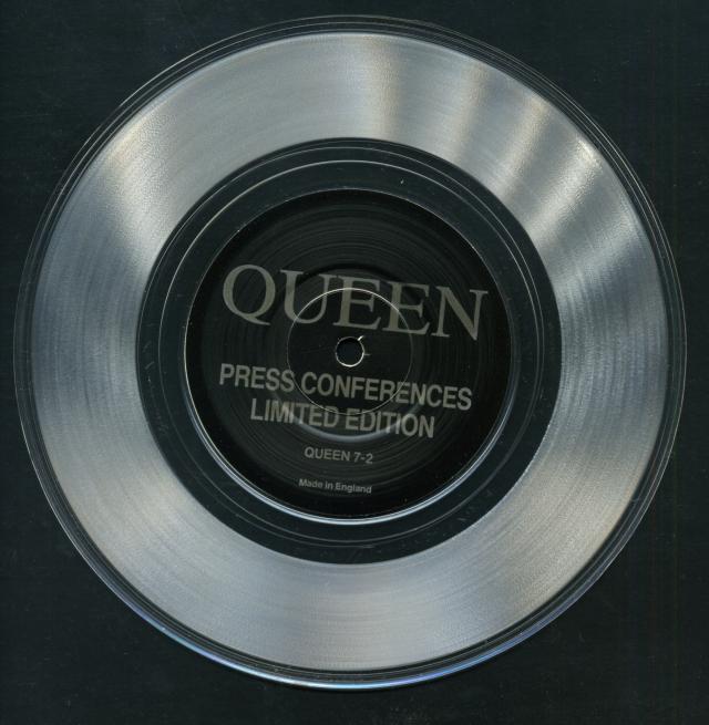 Press Conferences / - - - QUEEN 7-2 UK (-) ~ Bootleg. Clear Vinyl - No PS