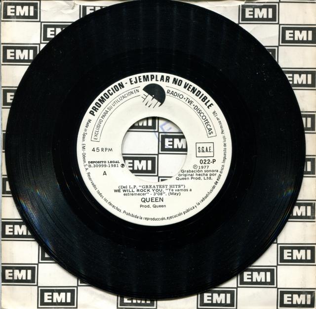 Queen - We Will Rock You - Bohemian Rhapsody - Side A