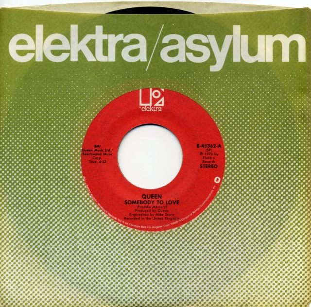 Somebody To Love / White Man - ELEKTRA E-45362 USA (1976) ~ No PS. Red Label