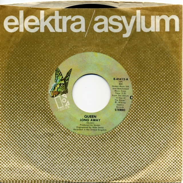 Long Away / You And I - ELEKTRA E-45412 USA (1977) ~ No PS. Green butterfly label