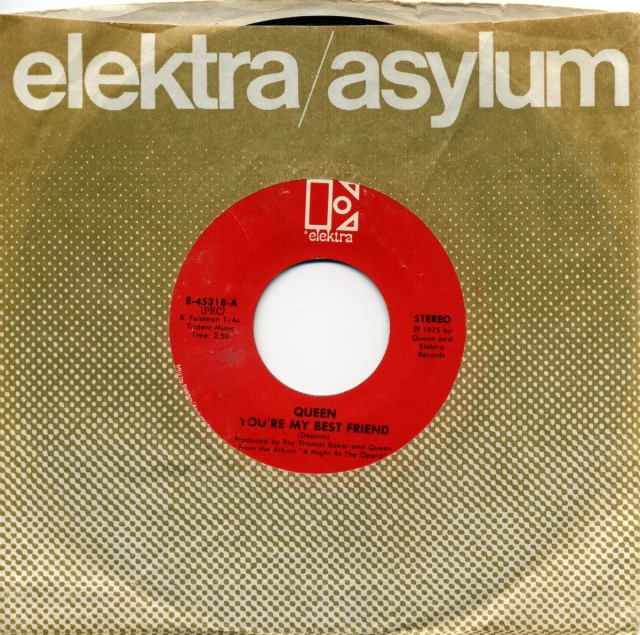You're My Best Friend / '39 - ELEKTRA E 45318 USA (1975) ~ No PS. Red Label