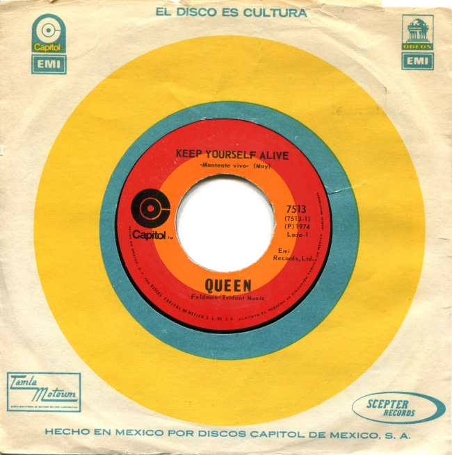 Keep Yourself Alive / Son and Daughter - EMI 7513 MEXICO (1973) ~ No PS - Labels in English and Spanish