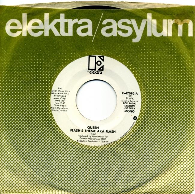 Flash (mono) / Flash (stereo) - ELEKTRA E-47092 USA (1980) ~ No PS. White label promo