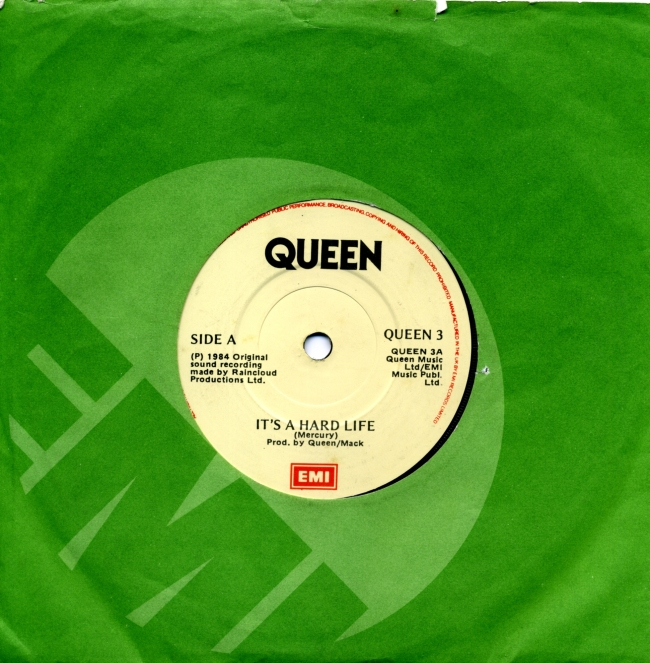 It's A Hard Life / Is this The World We Created…? - EMI QUEEN3 IRELAND (1984) ~ No PS