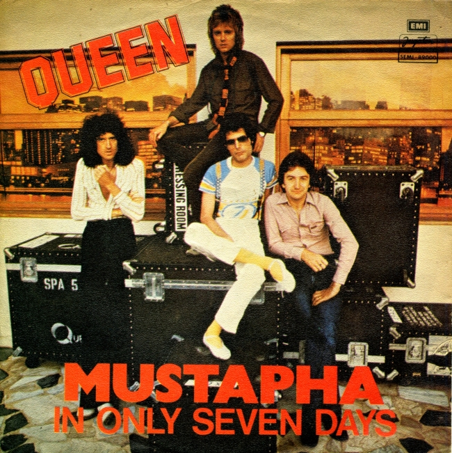 "Mustapha / In Only Seven Days - YUGOTON SEMI 89000 YUGOSLAVIA (1978) ~ B Side plays ""Dreamer's Ball"""